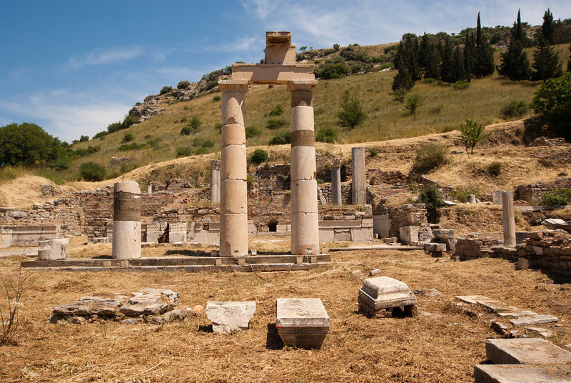 Remains of the City Hall in Ephesus.