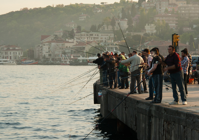 Fishing on the Bosphorus.