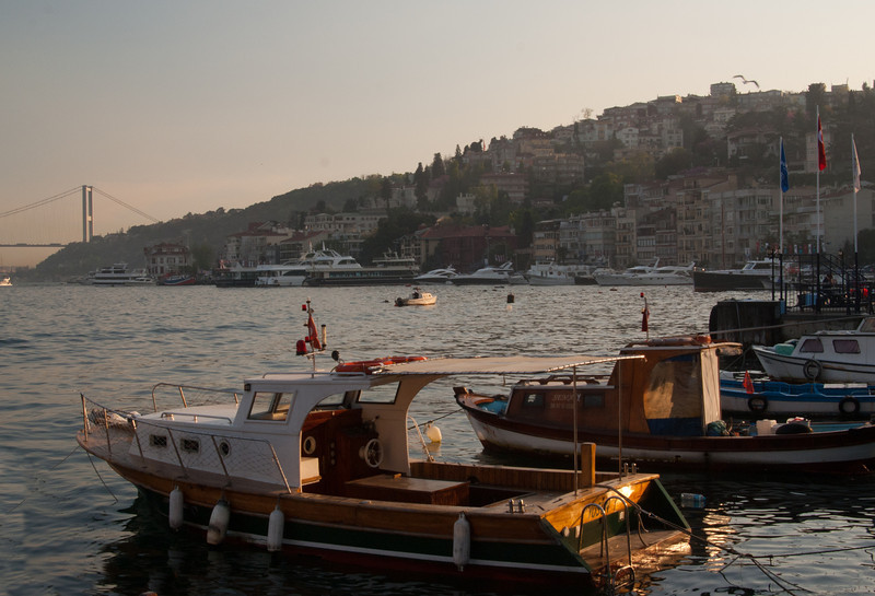 Boats on the Bosphorus.