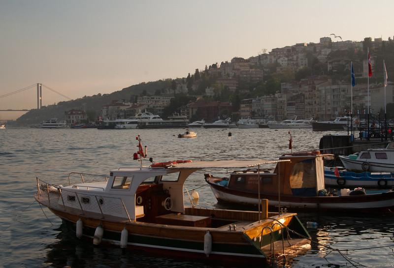 Boats on the Bosphorus.