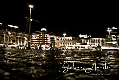 Turku åbo tori open market finland night lights people kop kolmio