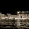 Turku åbo tori open market finland night lights people