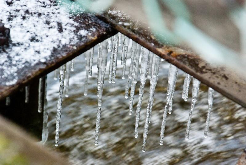 Ice under bridge