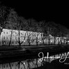 aurajoki turku åbo river city finland joki yö night night lights maisema city scape urban black and white church 7