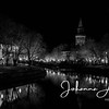 aurajoki turku åbo river city finland joki yö night night lights maisema city scape urban black and white church 2-2