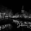 aurajoki turku åbo river city finland joki yö night night lights maisema city scape urban black and white church 2-2