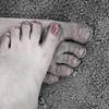 Foot love.