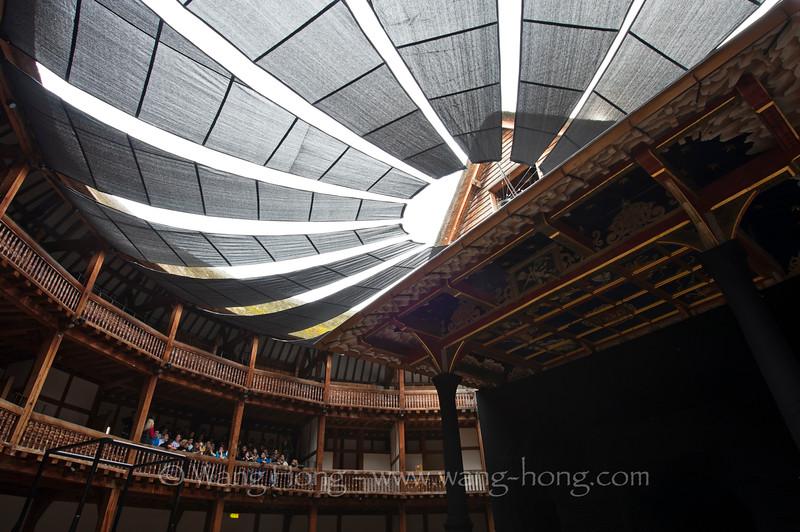 Shakespear's Globe on London South Bank.