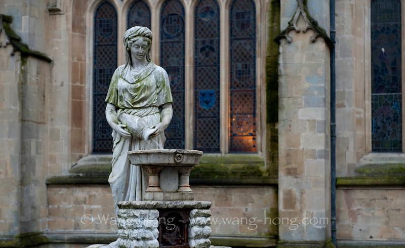 outside the Abbey, Bath.