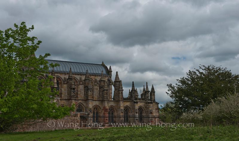 Rosslyn Chapel in Midlothian, outside Edinburgh.
