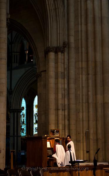 Inside York Minster.