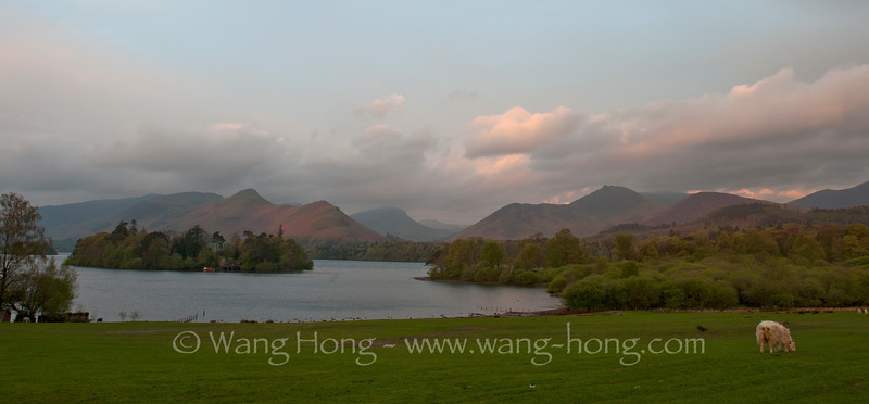 By Derwent Water in late afternoon, Lake District, Northern England.