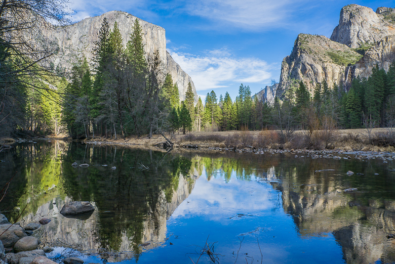 Reflections in the Merced River