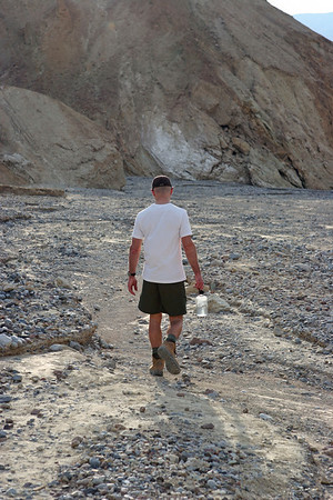 Tony on the Gower Gulch Trail below Zabriski Point.