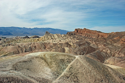 Zabriskie Point - looking north west toward the point (left of photo center)