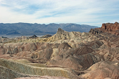 Zabriskie Point - looking north west toward the point (photo center)
