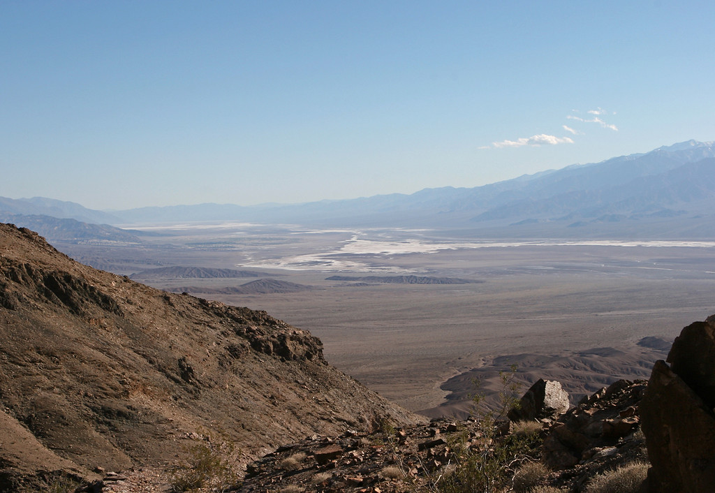 Keane Wonder Mine site. <br /> <br /> View of Death Valley southwest from the Keane Wonder Mine Trail toward the salt flats.