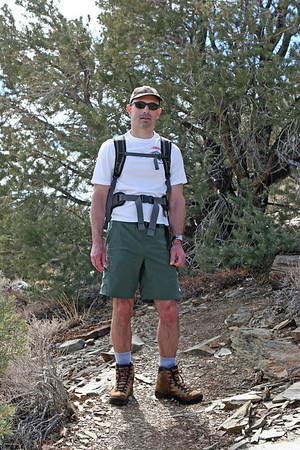 Tony on Wildrose Peak Trail saddle south of Wildrose Peak.