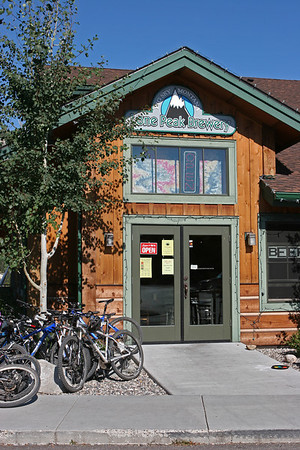 Sept 10, 2011, after a bit of mountain biking, Lone Peak Brewery, Big Sky MT, Day 2.