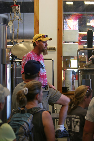 "Sept 10, 2011, Steve Nordahl - Masterbrewer, ""Well, at least I thought those were hops we put in the beer."", Lone Peak Brewery, Big Sky MT, Day 2."
