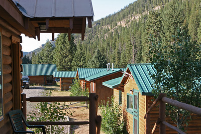 Sept 10, 2011, Cabins at the Cinnamon Lodge on US Route 191, south of  Big Sky MT, Day 2.