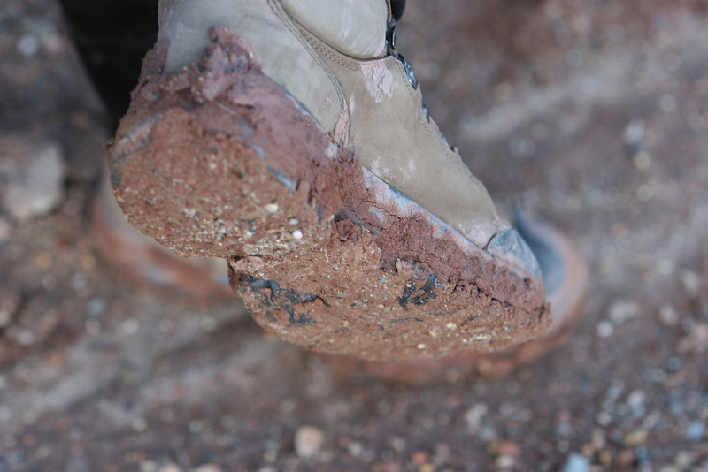 Mud from Huber Wash Trail in Zion.