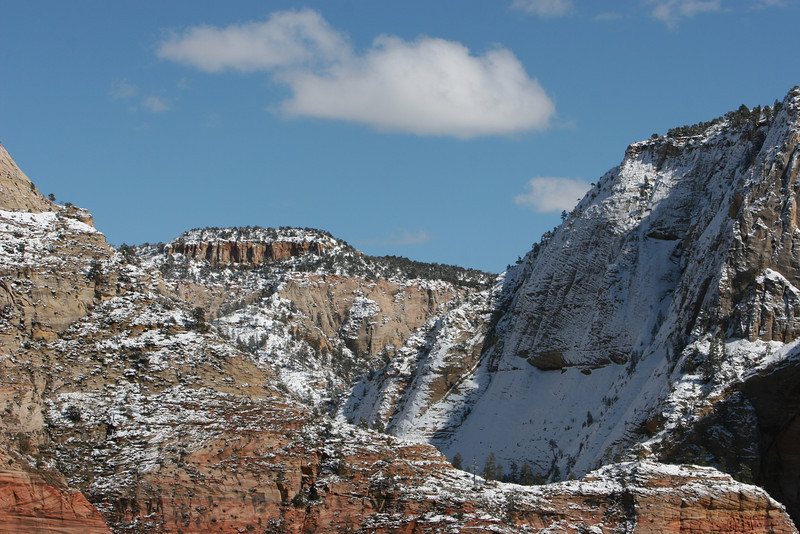 Northeast towards the East Rim Trail from the saddle in Angels Landing Trail in Zion.