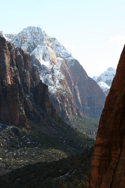 Southeast from the West Rim Trail to Angels Landing in Zion.