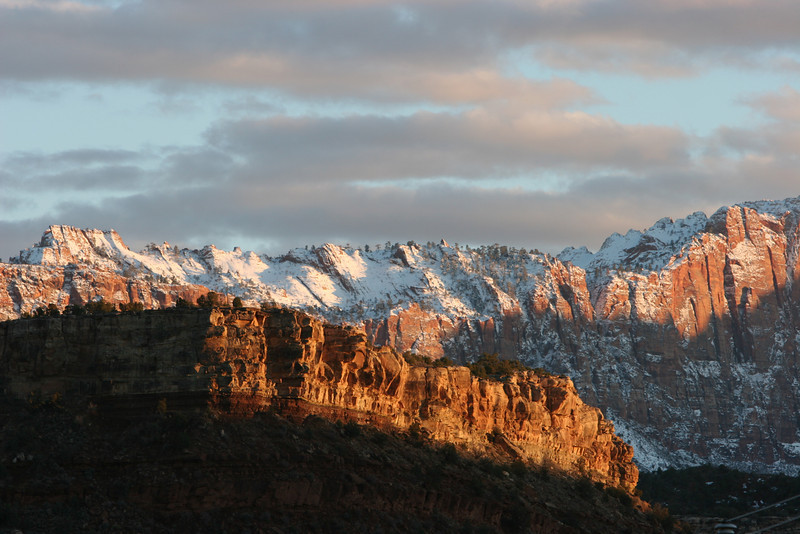 Southeast from Huber Wash Trail in Zion.