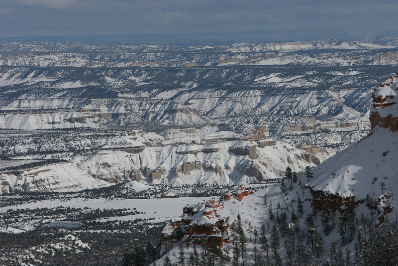 East towards Kodachrome Basin from Sunset Point in Bryce.