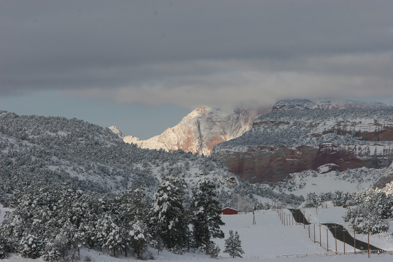 From Zion Mountain Ranch west towards the east entrance of Zion.