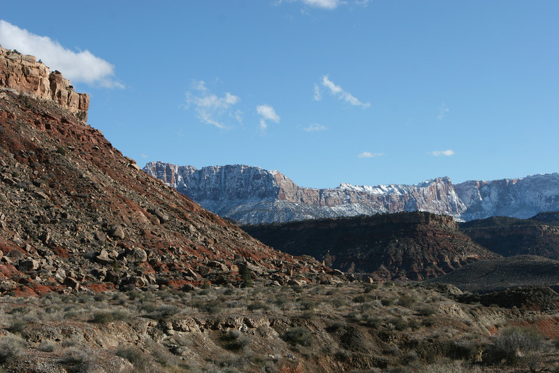 Southeast from entrance to Huber Wash in Zion.
