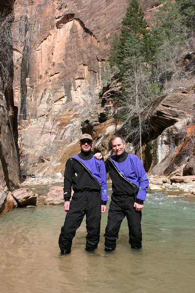 The Narrows in the North Fork of the Virgin River in Zion.