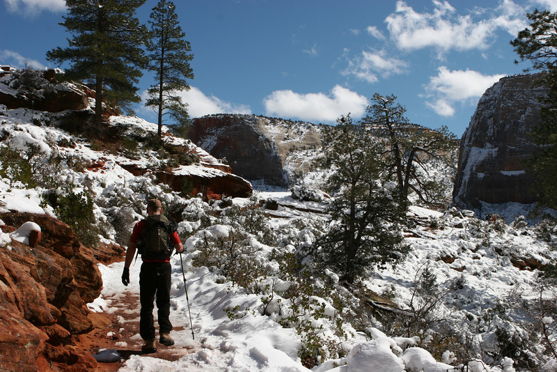 Scout's Lookout on West Rim Trail below Angels Landing in Zion.