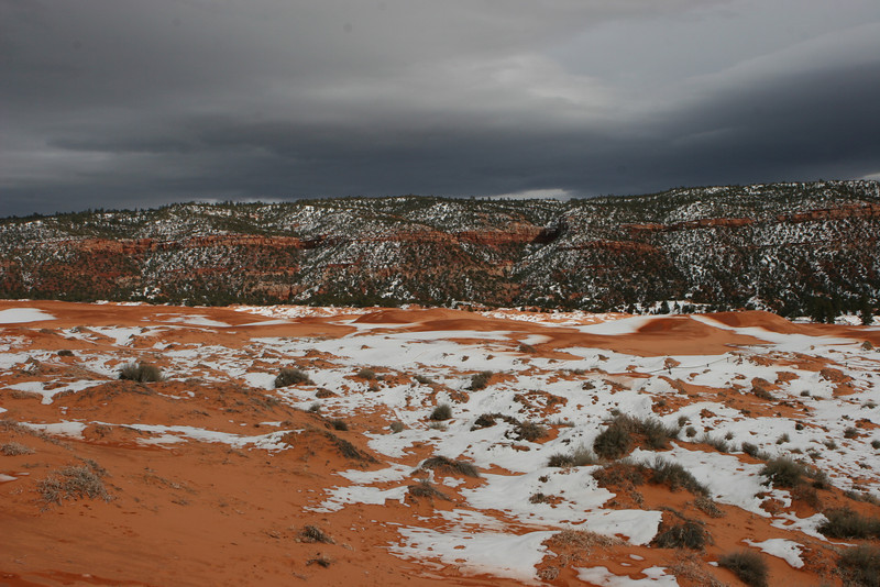 East from the Coral Pink Sand Dunes State Park.