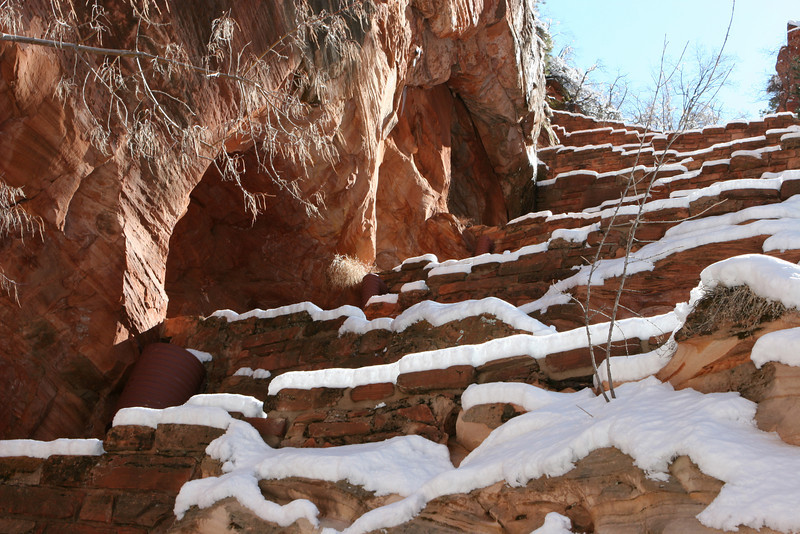 Wally's Wiggles on West Rim Trail to Angels Landing in Zion.