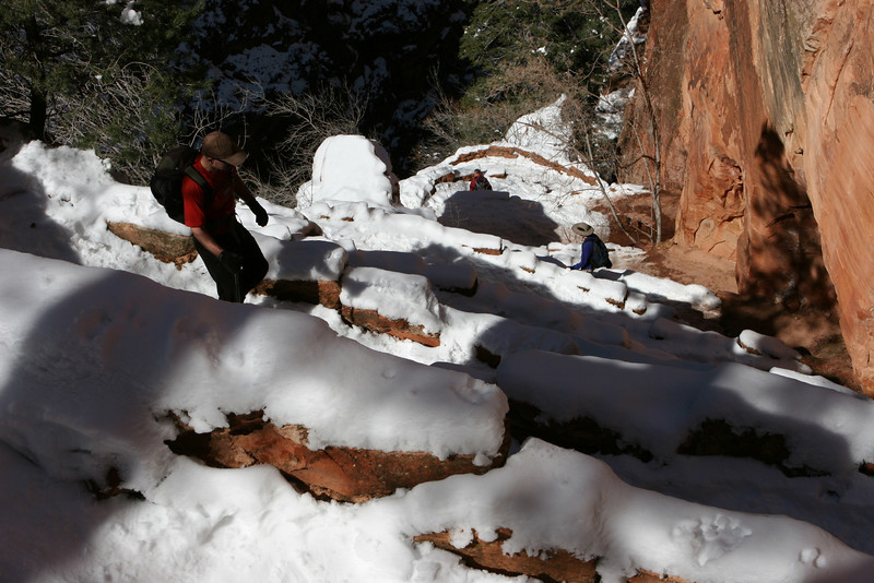 Wally's Wiggles on the West Rim Trail to Angels Landing in Zion.