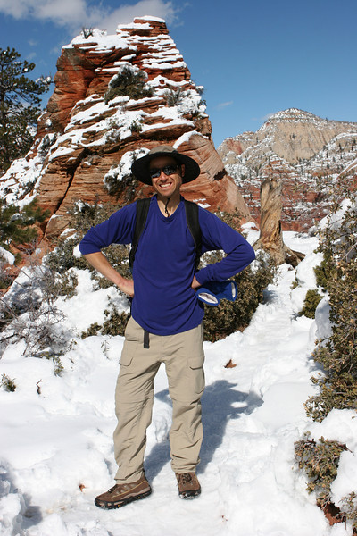 The saddle in Angels Landing Trail in Zion.