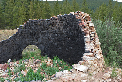 Mitchell Loop Trail, about 1.5 miles, stone charcoal kilns off rail bed part of the trail. Charcoal used to fire trains headed to nearby Leadville.