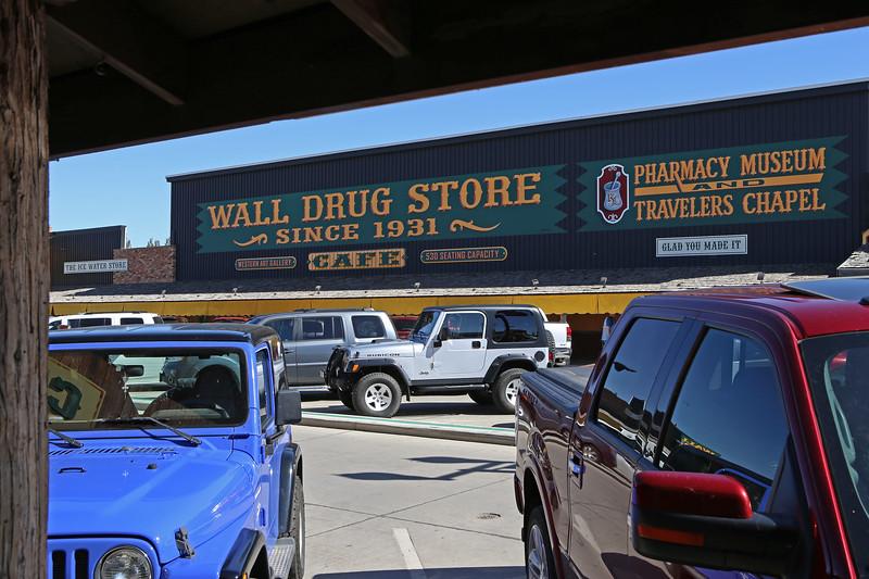 September 21, 2017. The 'famous' Wall Drug Store, Main Street, Wall, South Dakota.
