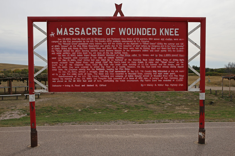 September 19, 2017 - Pine Ridge Reservation and the Memorial to the Massacre of Wounded Knee.