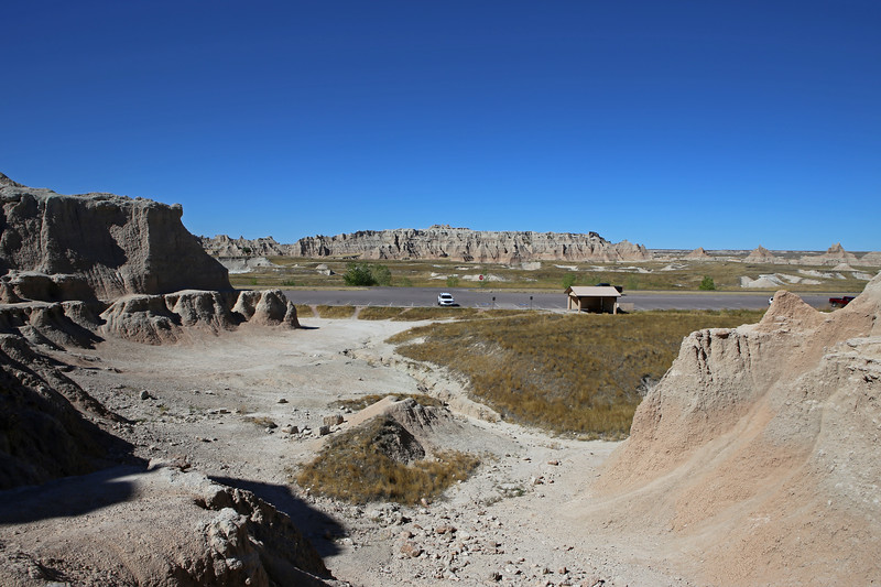 September 20, 2017 - Badlands National Park.  View north back to the Door/Window/Notch Trail parking lot.