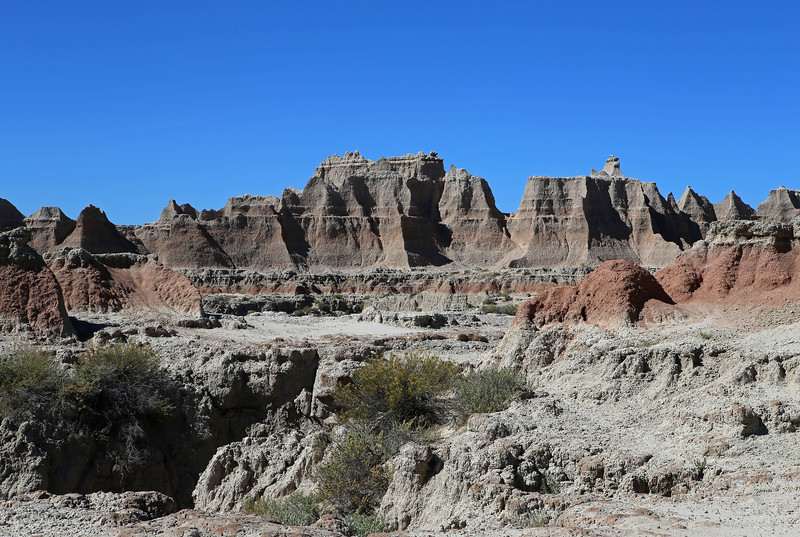 September 20, 2017 - Badlands National Park.  View north from the Door Trail.