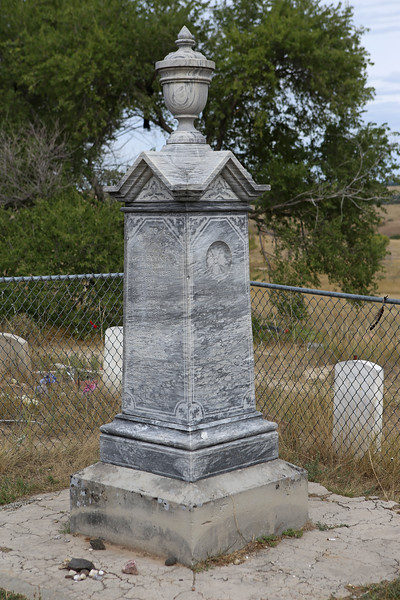 September 19, 2017 - Pine Ridge Reservation and the Memorial to the Massacre of Wounded Knee.  The cemetery monument.