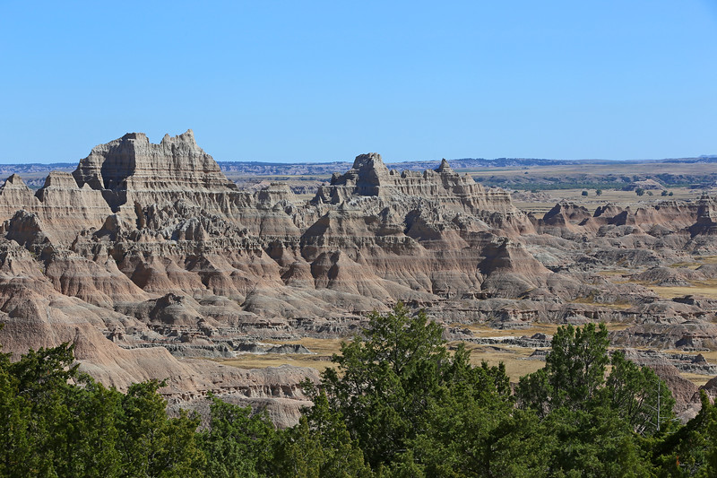 September 20, 2017 - Badlands National Park. View southeast from the Cliff Shelf Nature Trail.