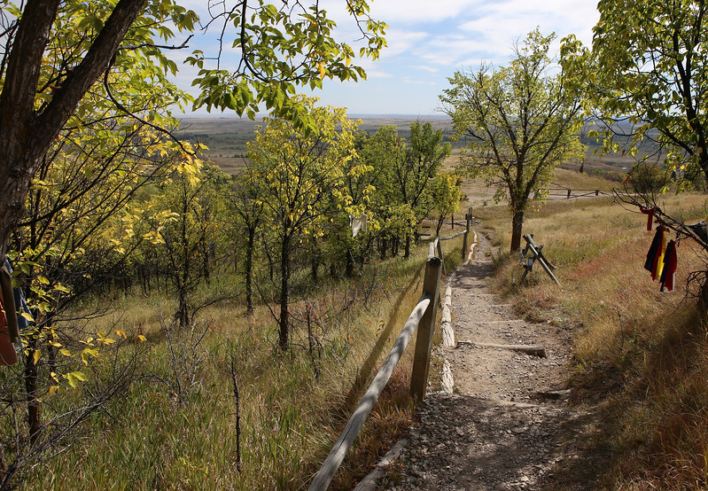 September 22, 2017 - Hike up Bear Butte, north of Sturgis. Trial head looking south.