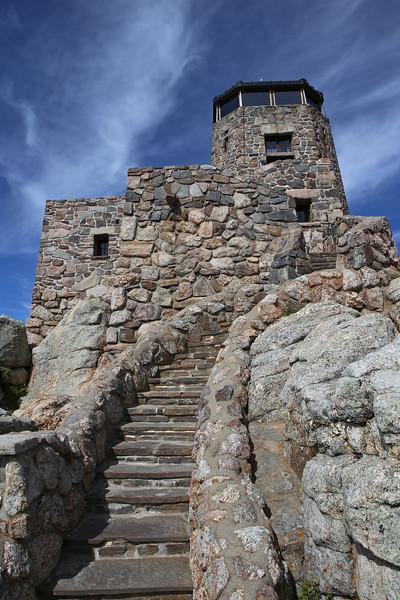 September 18, 2017 - Custer State Park. Hiking up Black Elk (Harney) Peak. The fire tower.