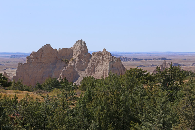September 20, 2017 - Badlands National Park. View from the Cliff Shelf Nature Trail looking south towards the White River Valley.