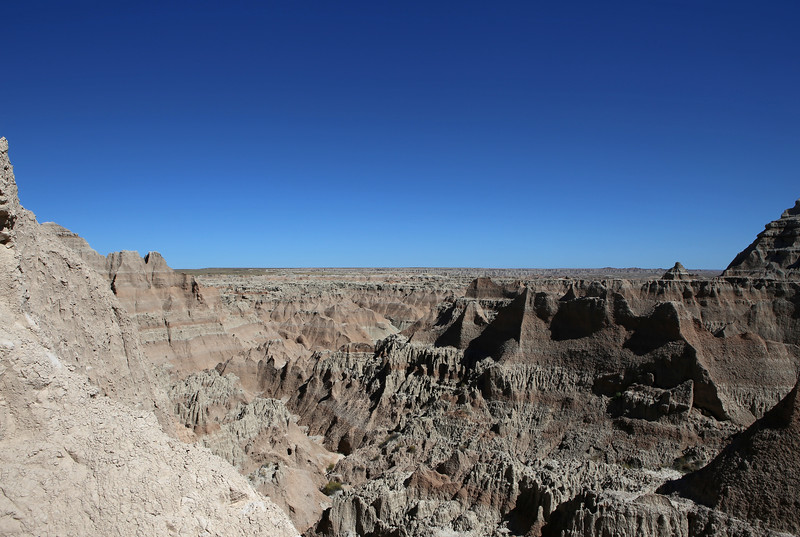 September 20, 2017 - Badlands National Park.  View southeast from the Window Trail.