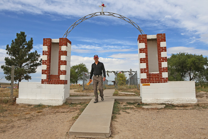 """September 19, 2017 - Pine Ridge Reservation and the Memorial to the Massacre of Wounded Knee. Entrance to the cemetery and site of the mass grave. See: <a href=""""https://goo.gl/PAfw2U"""">https://goo.gl/PAfw2U</a>"""